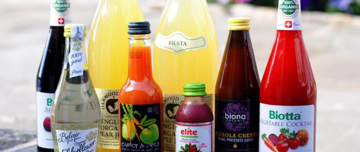 A wide range of juices
